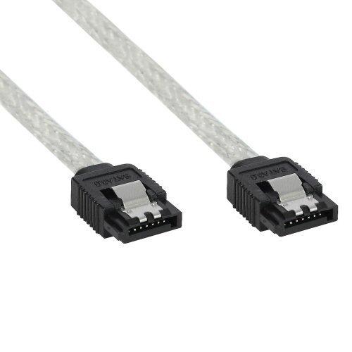 InLine 27305r 0,5m transparent Kabel SATA-Kabel SATA