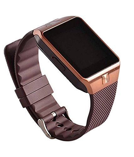Smart Watch with SIM, 16GB memory card support for Android or use as Mobile..COLOUR : BROWN (Brand-JP)