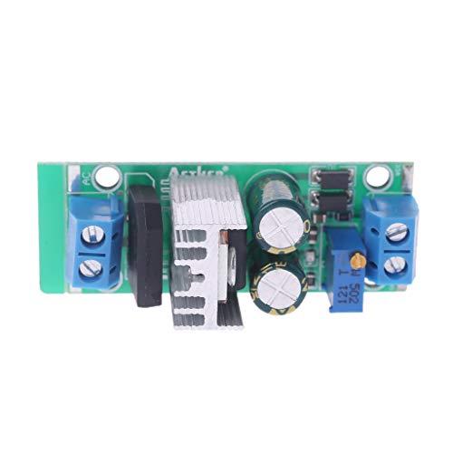 BouT LM317 Modul, einstellbares Netzteil Spannungsreglermodul Buck Converter Step Down Netzteil Geregelte Platte Gleichrichter AC/DC Input Breadboard -