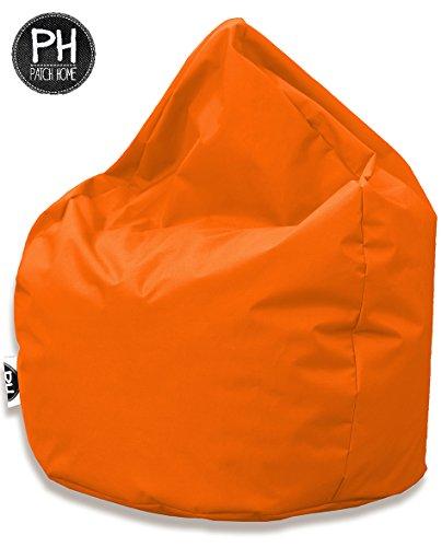 Patchhome Sitzsack Tropfenform Orange für In & Outdoor XL 300 Liter - mit Styropor Füllung in 25 versch. Farben und 3 Größen
