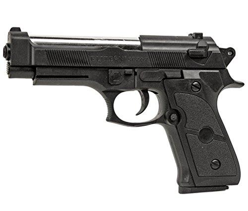 Nick and Ben Robuste Army Pistole-Softair 6 mm schwarz ca. 16 cm lang frei ab 14 Jahren unter 0,5 Joule