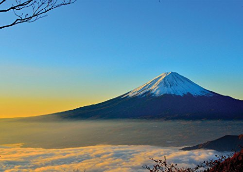 Mount Fuji Sunrise Poster (A0-1189x 841mm) (Poster Fuji Mount)