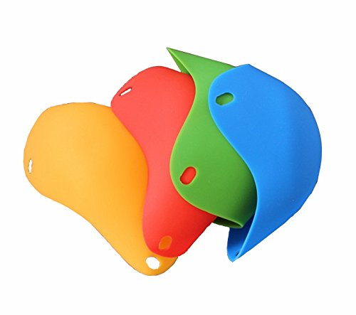 Da.Wa 4 Stück Ei Poacher -Silikon Ei Pochieren Cups, für Mikrowelle oder Herd Ei Kochen, BPA frei (Stück Sie Schwimmen Ein Schneiden)