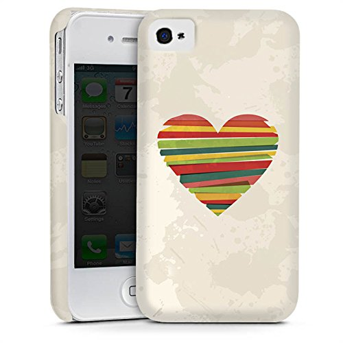 Apple iPhone 5 Housse étui coque protection Amour Amour C½ur Cas Premium mat