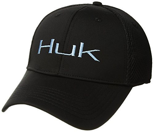 Huk Soft Stretch Tech Cap, Black, Large/Extra Large -