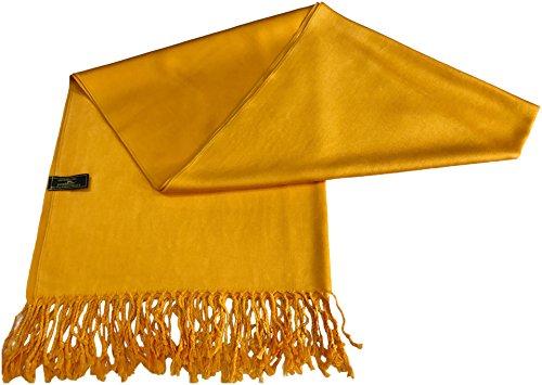 Princeton Orange Kaufen Einfarbiges Design Stola Schal Umschlagtuch Schultertuch Tuch CJ Apparel