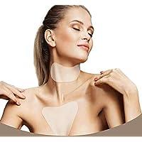 Almohadilla antiarrugas de silicona para el cuello, con almohadilla para el pecho para evitar y reducir las arrugas, reutilizable, antiarrugas (2 unidades)
