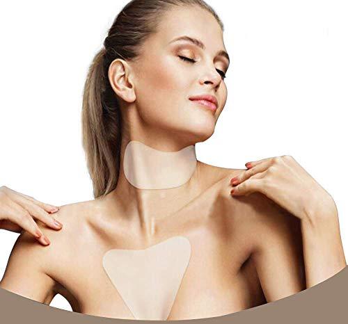 Almohadilla antiarrugas de silicona para el cuello,