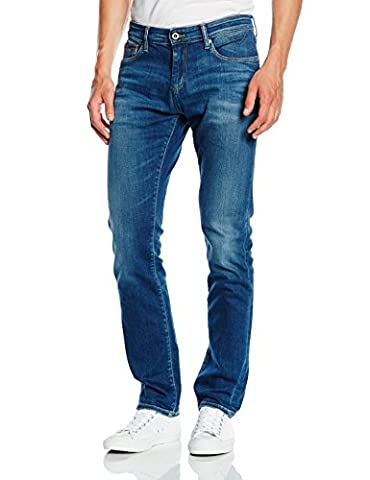 Hilfiger Denim Herren Slim Jeanshose Scanton MIDC, Gr. W33/L32, Blau (MID COMFORT 991)
