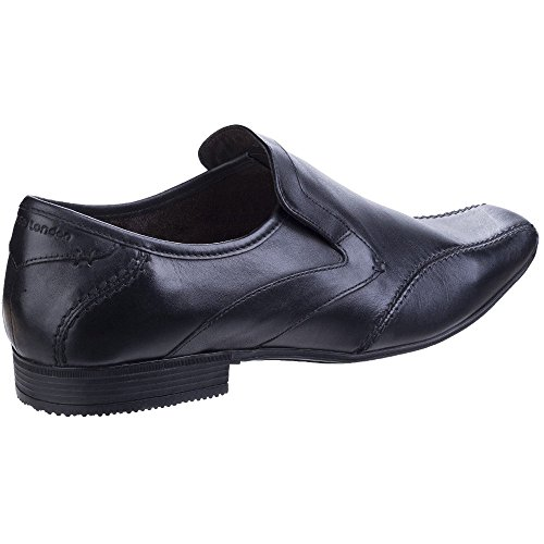 Base London Mens Sphere Excel Formal Waxy Leather Slip-On Loafer Shoes Black
