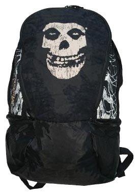 Misfits,Black Skull Logo, Rucksack