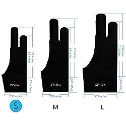 XP-Pen Gant Artiste Anti-fouling Professionnel en Lycra Taille S pour Toutes les Tablettes Graphiques Ecran à Stylet LED Tablette Lumineuse (S)