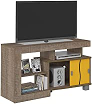Artely Senna TV Table for 42 inch TV, Cinnamon Brown/ Cinnamon Brown with Yellow, W 105.5 cm x D 40 cm x H 65
