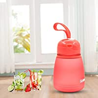 HUANGMENG Cup 308ml Plastic Screw Top Child Cute Water Bottle(Pink) HUANGMENG (Color : Red)