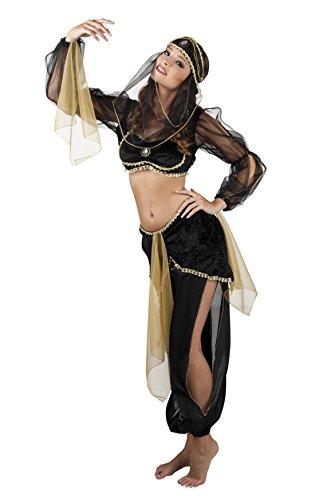 Bauchtanz Kostüme Amazon (erdbeerloft - Damen Fashion Bauchtanz-Kostüm, Schwarz, Größe)