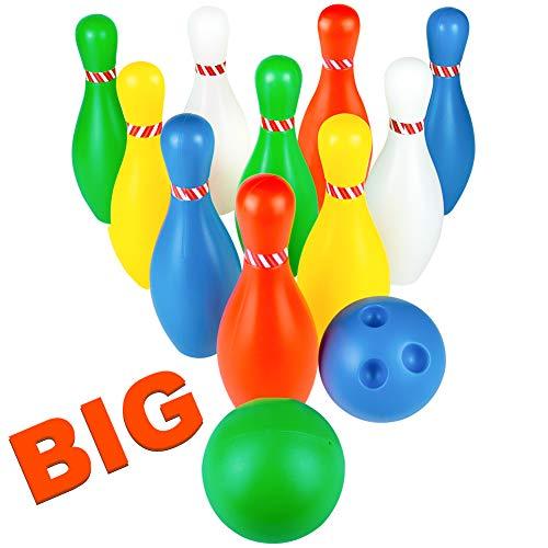 ling Kegel Kinder Kegelspiel Spielzeug Spiele 12 Set Pädagogisches Spielzeug für Draußen Geschenke für Kinder Jungen und Mädchen ab 3 4 5 Jahren ()