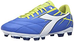 Diadora Women s Forte W Md LPU Soccer Shoe Electro Blue/White/Lime 6 B(M) US