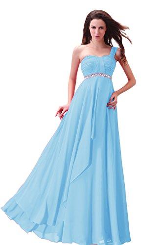 Bridal_Mall -  Vestito  - Senza maniche  - Donna Azzurro