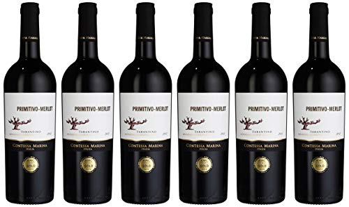 Contessa Marina Primitivo Merlot Tarantino IGT 2018 (6 x 0.75 l)
