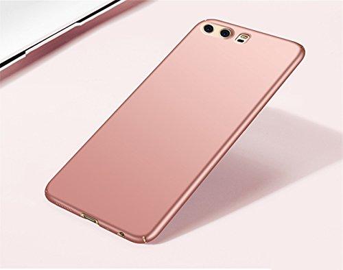 Huawei P10 Hülle,EinsAcc PC Einfarbig Slim Schutzhülle Hülle für Huawei P10 (gold) rosegold