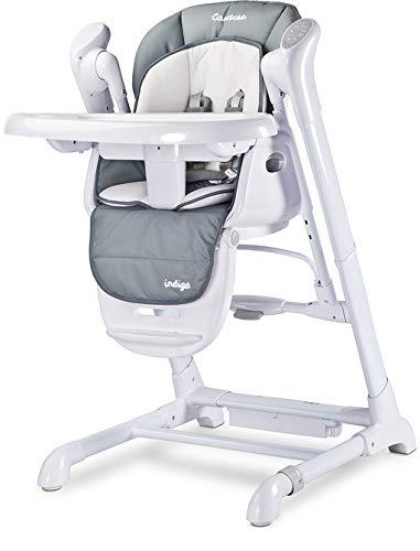TERO-761 2in1 Babyhochstuhl + Elektrische Babyschaukel Indigo grau