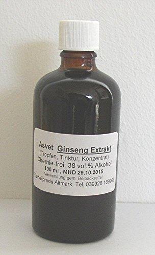 100ml Asvet Ginseng Tropfen, Tinktur, Extrakt, Konzentrat (Tinktur Ginseng)