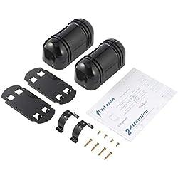 Kongqiabona Wireless Photoelectric Dual Beam Infrarot-Detektor/Sensor (Sender Empfänger) Outdoor 100M Hausgarten Sicherheit