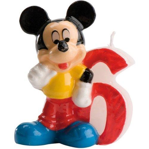 Mickey-mouse-zahlen (Kuchenkerze Zahl 6 Mickey Mouse (0.0750kg))