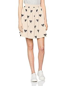 Pepaloves Rackets Skirt Cream, Falda Casual para Mujer