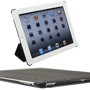Snugg iPad 2 Ultra Thin Smart Case in Black – Flip Stand Cover with Auto Wake and Sleep for Apple iPad 2