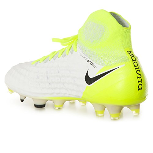 Nike Magista Obra II FG Fußballschuhe Rasenschuhe Schuhe für Herren Weiß (White/Volt/Pure Platinum/Black)