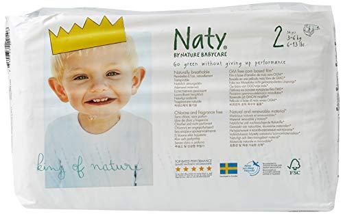 Naty by Nature Babycare Ökowindeln - Größe 2 (3-6 Kg), 4er Pack (4x 34 Stück)