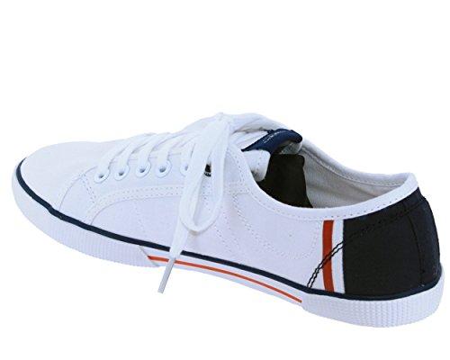 Pepe Jeans London Aberman Print, Sneakers Basses Homme Blanc