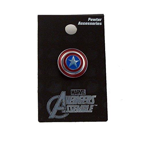 Preisvergleich Produktbild Marvel Pewter Lapel Pin Colored Captain America Shield