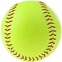 Homyl 1 Pieza de Pelota Amarilla de Sófbol de Lanzamiento Lento y Rápido para Chicas Perfecto Accesorio de Softball