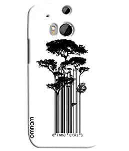 Omnam Tree Made Of Bar Code Printed Designer Back Cover Case For HTC One M8