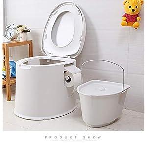 WC Premium Campingtoilette für Mobilehome Toiletteneimer Kompost WC BO Camp WC Reise – Farbe Gold & WEIß
