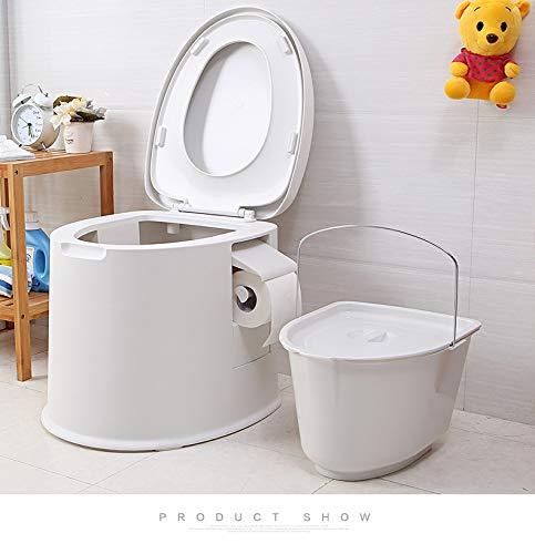 WC Premium Campingtoilette für Mobilehome Toiletteneimer Kompost WC BO Camp WC Reise - Farbe Gold & WEIß (Weiß)
