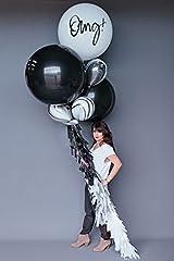 Idea Regalo - PuTwo Palloncini Giganti 90cm Piccoli 12 pollici / 30CM creativo arte Jumbo Per Bambini Party Di Compleanno Decorazioni Di Cerimonia Matrimonio Baby Shower Partito di Hen Attività Commerciali - Nero e Bianco di Marmo