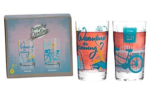 RITZENHOFF Everyday Darling Softdrinkglas , 2ER-SET Design Softdrink-/Wasser-/Trink Glas , V. Romo & M. Wüllner, A0373610