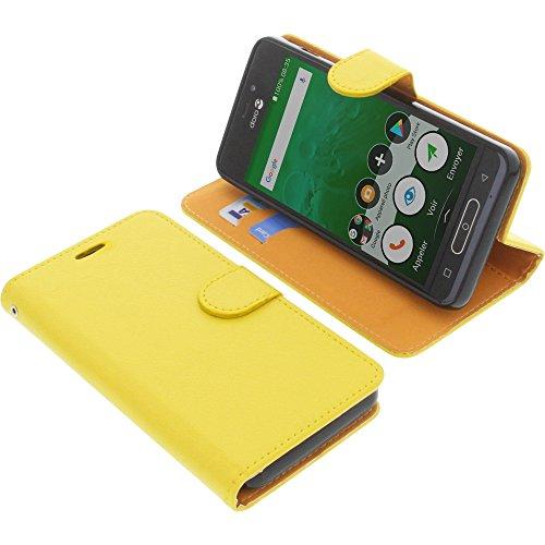 Tasche für Doro 8035 Book Style gelb Schutz Hülle Buch