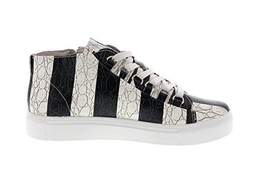 BLACKSTONE - Sneaker NL43 - stripes black stripes black