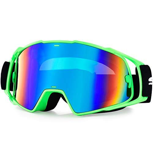 Snowledge Motocross Brille, MX Goggles Erwachsene, MTB Brille Sportbrille Winddicht Fahrradbrille Staubdicht Kratzfest UV400 für Brillenträger geeignet
