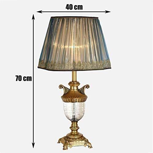 Lámpara de mesa Las luces de cristal de estilo europeo de cobre ...