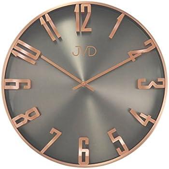 Wanduhr Uhr Design Rosegold Grau Wohnzimmeruhr Gut Lesbar Esszimmer NEU
