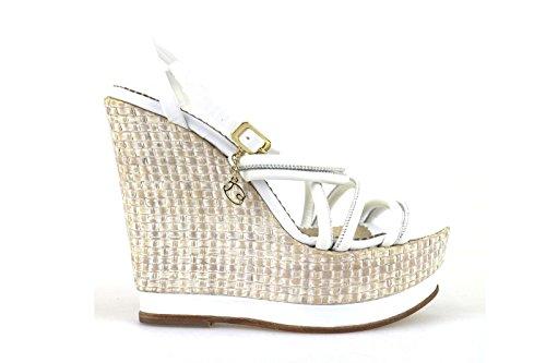scarpe donna BRACCIALINI sandali bianco pelle AH382 (37 EU)