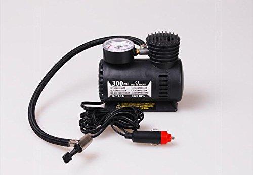CAOLATOR KFZ Minikompressor Auto-Kompressor mit 1 x Mini Kompressor,1 x Nadeladapter,2 x Zusatzdüsen,12V Luftkompressor