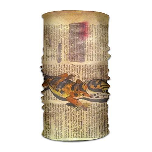 Jieaiuoo Headwear Headband Watercolor Leopard Gecko Head Scarf Wrap Sweatband Sport Headscarves For Men Women - Flower Girl Satin Schuhe