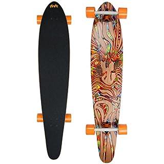 AREA Z-DANCE Longboard Skateboard 7x Canadian Maple Wood Ahorn Deck ABEC 7