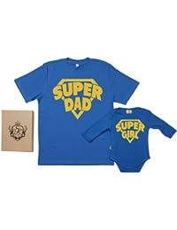 Spoilt Rotten - SuperDad & SuperGirl - 100% Bio-algodón - Papá y bebé caja de regalo Set